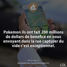 Pokemon ils ont fait 200 millions de dollars de benefice en nous envoyant dans… Pokemon, Funny Quotes, Funny Memes, Humor Quotes, Funny French, Some Jokes, Image Fun, Calm Quotes, Geek Humor