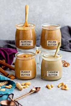 How to make Homemade Nut Butter - Learn how to tips & recipes to make healthy & delicious peanut butter, almond butter, pecan butter & creamy cashew butter. Recipes lunch How to Make Nut Butter - 4 Ways + EASY Recipe with BEST Tips + Tricks Homemade Almond Butter, Flavored Butter, Cashew Butter, Butter Pecan, Peanut Butter Recipes, Almond Milk Recipes, Flour Recipes, Blender Recipes, Cooking Recipes