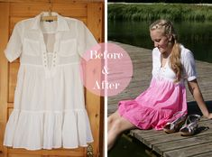 Refashionista: Ombre dye dress - Pearls and Scissors