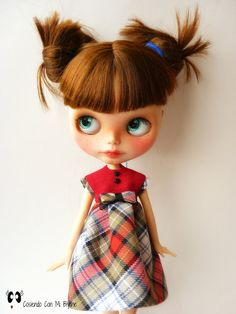 Vestido para muñeca Blythe Dress for por Cosiendoconmiblythe