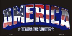 America Stands for Liberty  Decorative Sign Tag