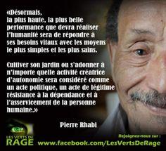 Importance de l'activité créatrice d'autonomie par Pierre Rabhi