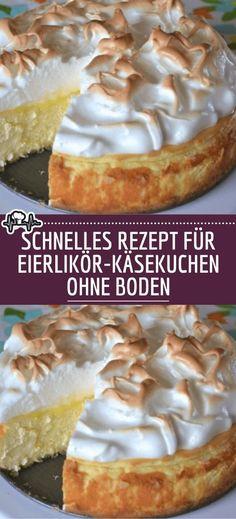 Schnelles Rezept für Eierlikör-Käsekuchen ohne Boden – Die Küche