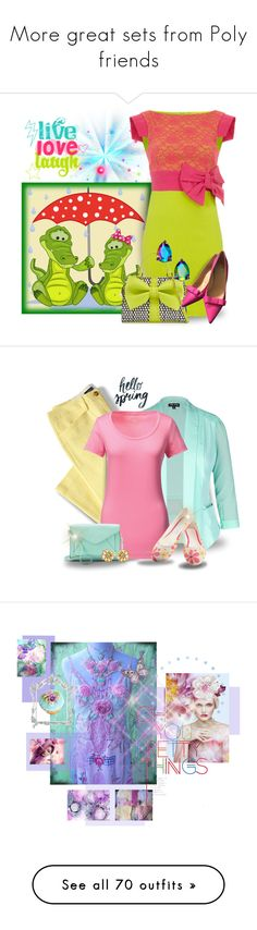 """""""More great sets from Poly friends"""" by catyravenwood ❤ liked on Polyvore featuring Betsey Johnson, Kate Spade, Lands' End, City Chic, Goby, Apt. 9, Amrita Singh, plus size clothing, art and artexpression"""