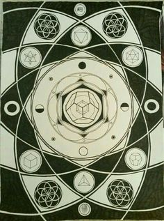 """""""The knowledge of which geometry aims is the knowledge of the eternal""""- PlatoArt by me"""