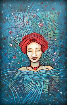 red hat lady blues by santosam81.deviantart.com on @DeviantArt