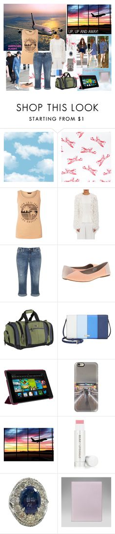 """""""Example set for 'En route la sol! Dress me for.....Airport to Spain!' contest!"""" by sarah-m-smith ❤ liked on Polyvore featuring Dorothy Perkins, Ryan Roche, Silver Jeans Co., sanuk, CalPak, Kate Spade, Casetify and Jane Iredale"""