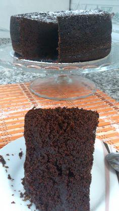 Bizcocho de chocolate intenso, esta vez sin mahonesa :p!!