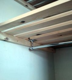 fix a hanging rail to the underside for drying clothes