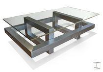 Mesa de centro moderna / de metal / de hierro / de metal lacado
