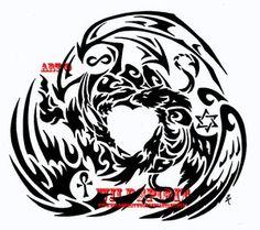 griffin - dragon - phoenix tattoo