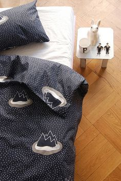 Island bedding set by Gunila Axén / Rafa-Kids Home Bedroom, Kids Bedroom, Bedrooms, Childrens Room, White Kids Room, Room Inspiration, Design Inspiration, Deco Kids, Textiles