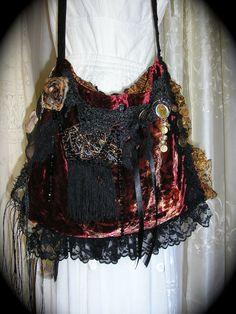 RESERVED Gypsy Fringe handbag bohemian shoulder bag by GrandmaDede, $131.00