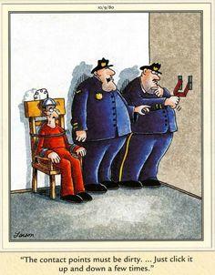 """The Far Side"" by Gary Larson. Far Side Cartoons, Far Side Comics, Good Cartoons, Funny Cartoons, Funny Comics, Funny Jokes, Hilarious, Gary Larson Cartoons, The Far Side Gallery"
