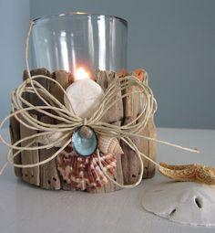 Nautical Decor Driftwood Candle Holder or Vase