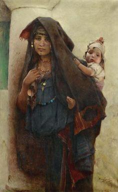 Bédouine À Tunis, Émile-Auguste Pinchart