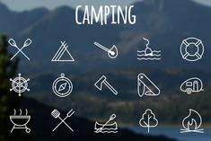 Get ultimate summertime bundle at OFF - --- Set of 15 pixel perfect outline vector Camping icons. HAVE A NICE TRIP You can use it in web design, apps, Business Illustration, Pencil Illustration, Business Brochure, Business Card Logo, Icon Design, Web Design, Graphic Design, Camping Icons, Holiday Icon