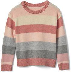 Shimmer rose stripe sweater