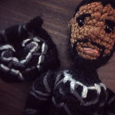 Writing a pattern tonight #wakandaforever #wakanda #blackpanther #crochet #amigurumi #craftyiscool @blackpanther #tchalla @chadwickboseman #wakandaforever