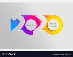 Happy 2020 new year insta colour banner Royalty Free Vector , Happy New Year Hd, Happy New Year Photo, Happy New Year Cards, New Year Card Design, New Year Designs, Happy New Year Design, New Year Illustration, Christmas Illustration, Adobe Illustrator