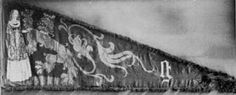 """ca. 1482, Ghent, Flanders. Extant banner for the City of Ghent, tempura on linen. Link to article: """"HERALDIC DISPLAY, Personal Standards: Design, Techniques and Hints"""""""