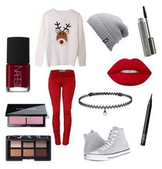 """""""Untitled #18"""" by pinky93482 on Polyvore featuring Converse, The North Face, BERRICLE, Lime Crime, NARS Cosmetics, MAC Cosmetics and Bobbi Brown Cosmetics"""