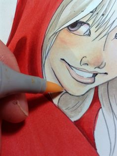 Copic tutorial: reflected light