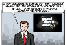 Video games create more violence in our society. Right? Check out the full comic by clicking on the picture