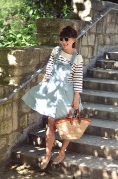 Denim Dress Olive clothing Paris basket Hello it's Valentine french blogger streetstyle