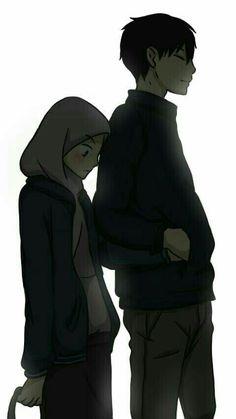 S pin muslim couples animated ❤ anime çiftler, müslü Cute Couple Drawings, Cute Couple Art, Anime Love Couple, Anime Couples Drawings, Couple Cartoon, Cute Muslim Couples, Cute Anime Couples, Hijab Drawing, Islamic Cartoon