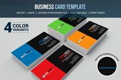 Business Card Template by @Graphicsauthor