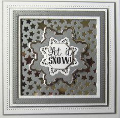 Creative Expressions Christmas 2017 Craft Die CED3127 Twinkle Star | CED3120 Scalloped Snowflake Frame