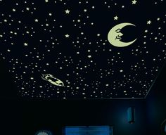 Glow In The Dark Star Stickers Decorate Your Ceiling With