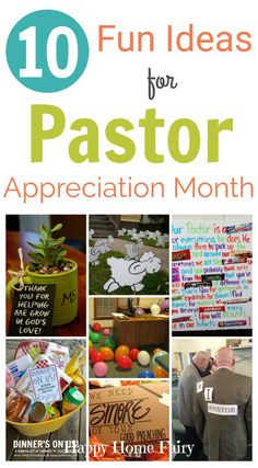 October is Pastor Appreciation Month! It's not too late to bless these hard-working people and their spouses. I rounded up a list of 10 fun ideas your family can do together to give back to the one who gives so much to you! (Scroll to the last idea – HILARIOUS.) Candy Gram Love this 'sweet' …