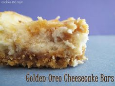 Golden Oreo Cheesecake Bars