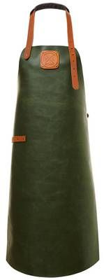 Sturdy Green Leather Apron, Leather Aprons Whether you are king of the grill or chef of the house; a barista in the making or just like to get your hands a little dirty, this leather apron is ready fo