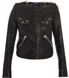 Edris Studded Leather Jacket by Isabel Marant  #matchesfashion
