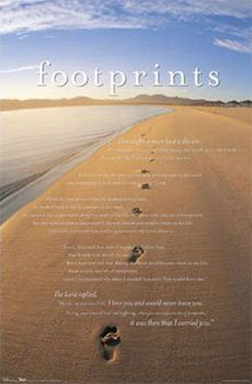 Footprints In The Sand Poem 12 Quot X 12 Quot Canvas Frame