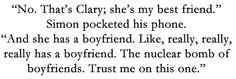 nuclear bomb of boyfriends = Jace Lightwood Mortal Instruments Books, Shadowhunters The Mortal Instruments, Clary And Jace, Cassie Clare, Cassandra Clare Books, Clace, The Dark Artifices, City Of Bones, The Infernal Devices