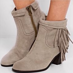 "Sam Edelman ""Louie"" suede fringe ankle boot, BNWOT In high demand, this boot is brand new!! They look great with leggings & a tunic, jeans, or a shift dress.  It can be cuffed or uncuffed (4-5"" shaft) with a 2 1/4"" block heel. Note- this for small feet. Sam Edelman Shoes Ankle Boots & Booties"