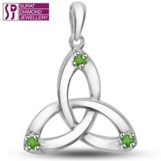 Round Emerald Pcs: 3 pcs  Round Emerald Wt: 0.03 cts  Gold Wt: 0.800 gms  Gold purity: 14 kt White Gold  Dimension: H=1 cm