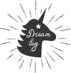 Dream Big Unicorn SVG Cut File
