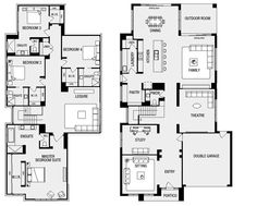 Metricon Sovereign 50 Laundry behind kitchen Butlers pantry This is THEE ONE! Simple Floor Plans, Modern House Floor Plans, Luxury Floor Plans, Farmhouse Floor Plans, Home Design Floor Plans, Kitchen Floor Plans, Bedroom Floor Plans, Floor Plans 2 Story, Two Story House Plans