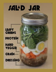 Salad in mason jar - perfect for Weight Watchers members!