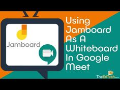 How To Use Google Jamboard As A Whiteboard Within Google Meet - Tutorial Guide For Distance Learning - YouTube Middle School Technology, Teaching Technology, Educational Technology, Technology Integration, Technology Tools, Google Calendar, Elementary Physical Education, Bilingual Education, Learning Resources