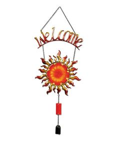 Look at this #zulilyfind! Sun 'Welcome' Sign #zulilyfinds