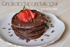 Chokoladepandekager uden mel og sukker