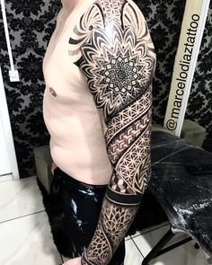 Full Leg Tattoos, Tribal Arm Tattoos, Circle Tattoos, Arm Sleeve Tattoos, Sleeve Tattoos For Women, Tattoo Sleeve Designs, Forearm Tattoos, Geometric Tattoo Pattern, Geometric Sleeve Tattoo