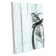 """Click Wall Art 'Band of Birds' Graphic Art on Wrapped Canvas Size: 40"""" H x 30"""" W x 1.5"""" D"""