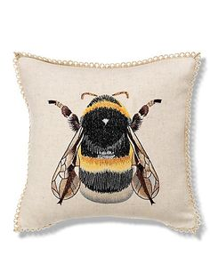 Bumblebee Embroidered Cushion | M&S